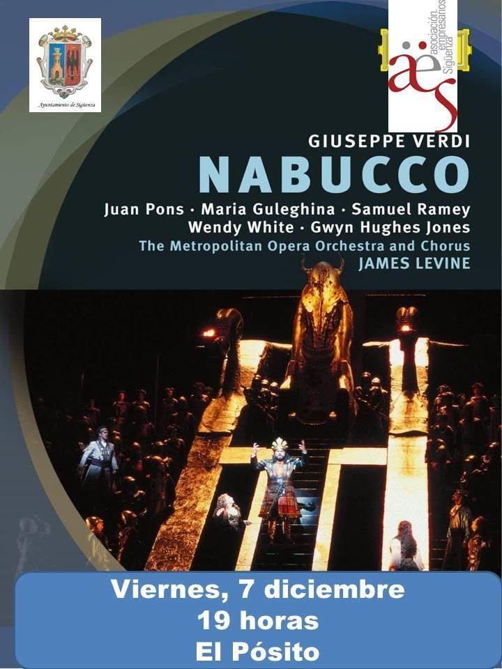 Este viernes, última proyección de 'Vive la Opera en Sigüenza' de 2018