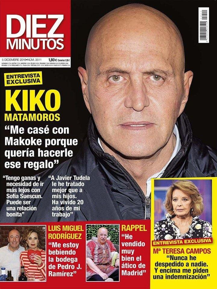 """DIEZ MINUTOS Kiko Matamoros : """"Tengo ganas de ir más lejos con Sofía Suescun"""""""