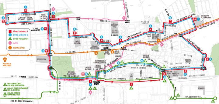 El lunes 10 de diciembre entran en vigor los nuevos horarios de los autobuses ASTRA en Azuqueca