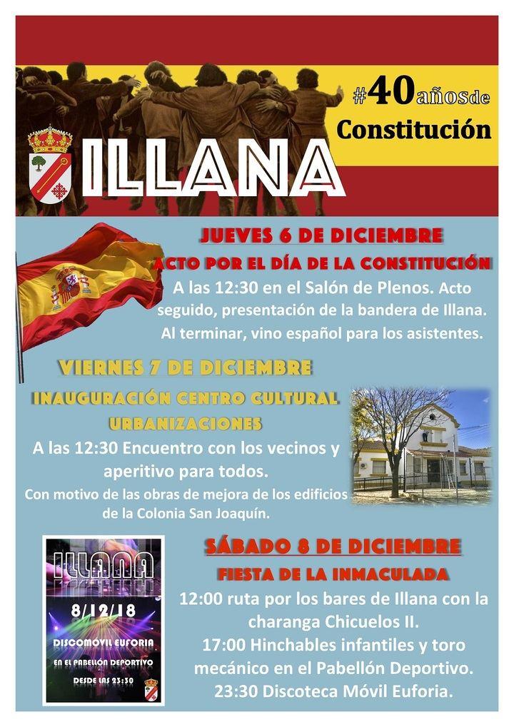 Illana se prepara para un intenso puente de la Constitución