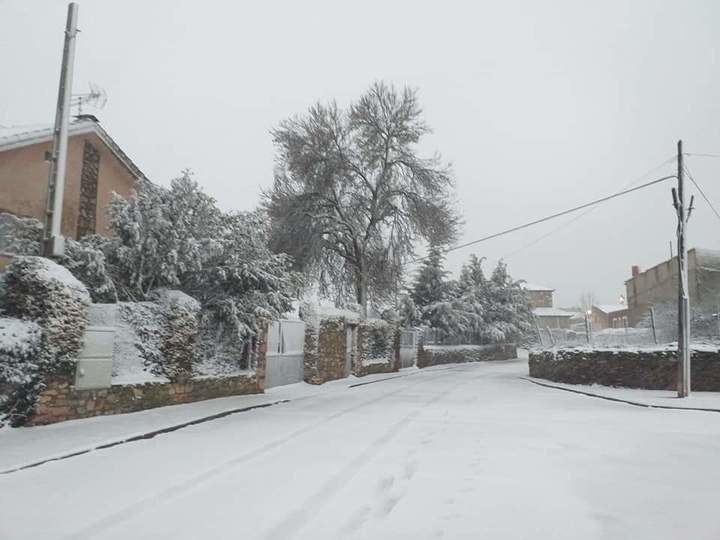 Foto : Este jueves, nevada en Cantalojas. Autor : Sergio Arranz