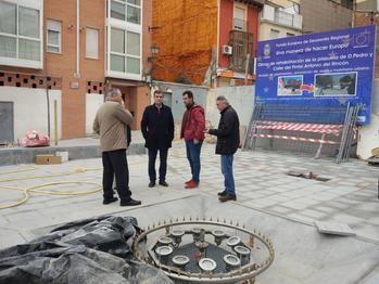 La remodelación de la plazuela de Don Pedro de Guadalajara afronta su recta final