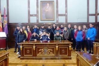 Escolares de 2º de Bachillerato del Colegio Agustiniano de nuestra capital visitan el Palacio Provincial