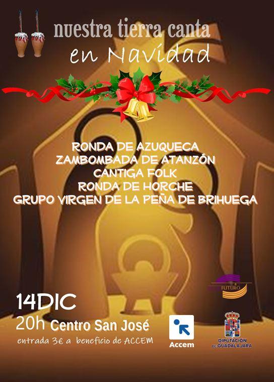 'Nuestra tierra canta en Navidad' a beneficio de Accem el próximo 14 de diciembre