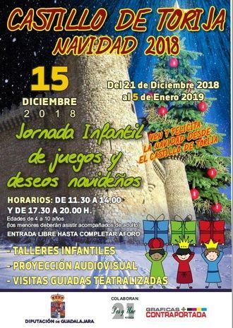 La Diputación organiza actividades navideñas para los más pequeños en el Castillo de Torija