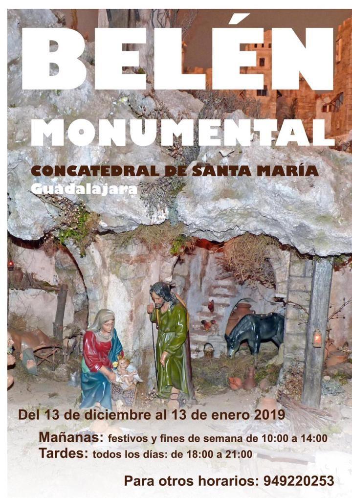 Ya se puede visitar y disfrutar del Belen Monumental de la Concatedral Santa María la Mayor de Guadalajara