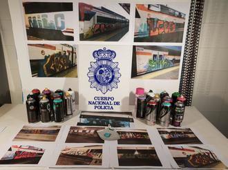 La Policía Nacional detiene a 9 grafiteros en Guadalajara por daños valorados en más de 40.000 euros