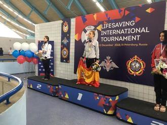 María Luengas del Alcarreño de Salvamento, Campeona Mundial en Rusia
