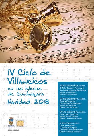 El próximo martes arranca el IV Ciclo de Villancicos de Guadalajara