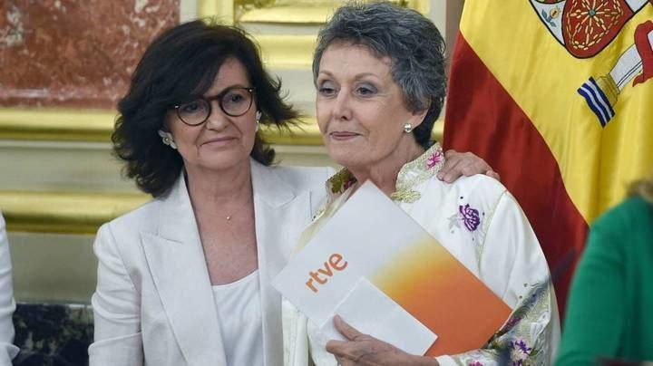 """El escándalo de Pedro Sánchez y Pablo Iglesias en RTVE : Rosa María Mateo cobra 10.000 al mes y """"no tiene ni idea"""""""