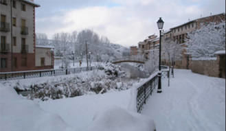 Molina de Aragón registra este jueves la temperatura más fría de España por segundo día consecutivo, con 10 grados bajo cero