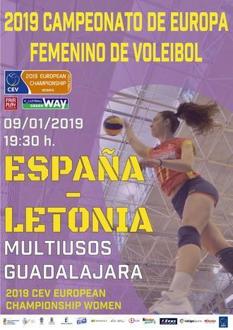 El miércoles 9 de enero en el Multiusos,encuentro España-Letonia de voleibol femenino