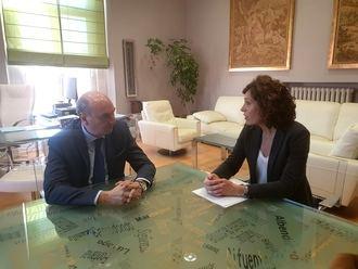 El presidente de la Diputación de Guadalajara traslada su apoyo y colaboración a la directora del Centro Asociado de la UNED