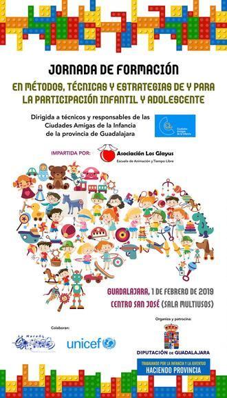 La Diputación de Guadalajara organiza una jornada de formación sobre 'Ciudades Amigas de la infancia' para técnicos y concejales