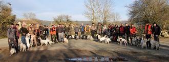 Concurso de perros de muestra sobre becada sin muerte en la Dehesa de Solanillos