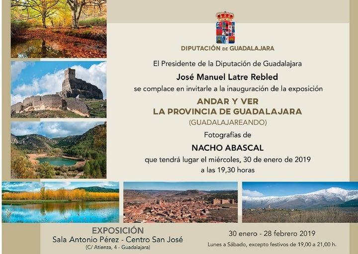 Exposición monumental de fotografías de Nacho Abascal a partir del miércoles en la Sala de Arte de la Diputación de Guadalajara