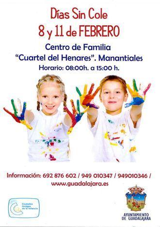Vuelve Días sin Cole para el 8 y el 11 de febrero en Guadalajara