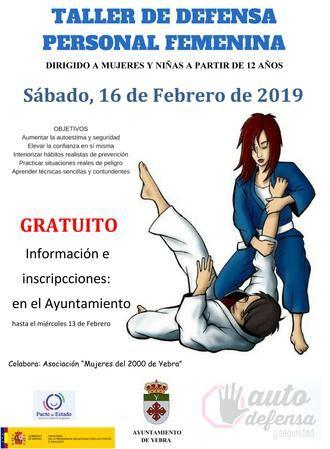 El sábado 16 de febrero, taller de defensa personal femenina en Yebra