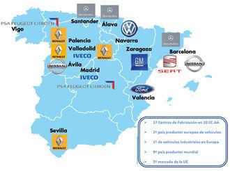 España pierde reprís como fabricante de coches y es adelantado por Brasil en el ránking mundial