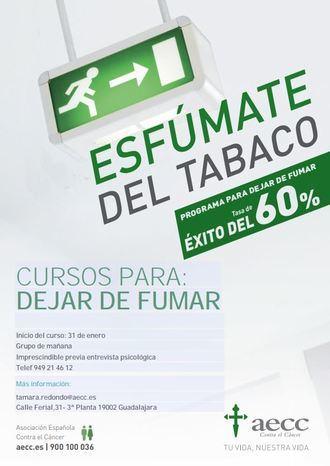La Asociación Española Contra el Cáncer de Guadalajara imparte cursos para dejar de fumar