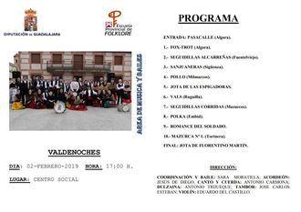 Muestra de música y bailes tradicionales de la Escuela de Folklore de Diputación el sábado en Valdenoches