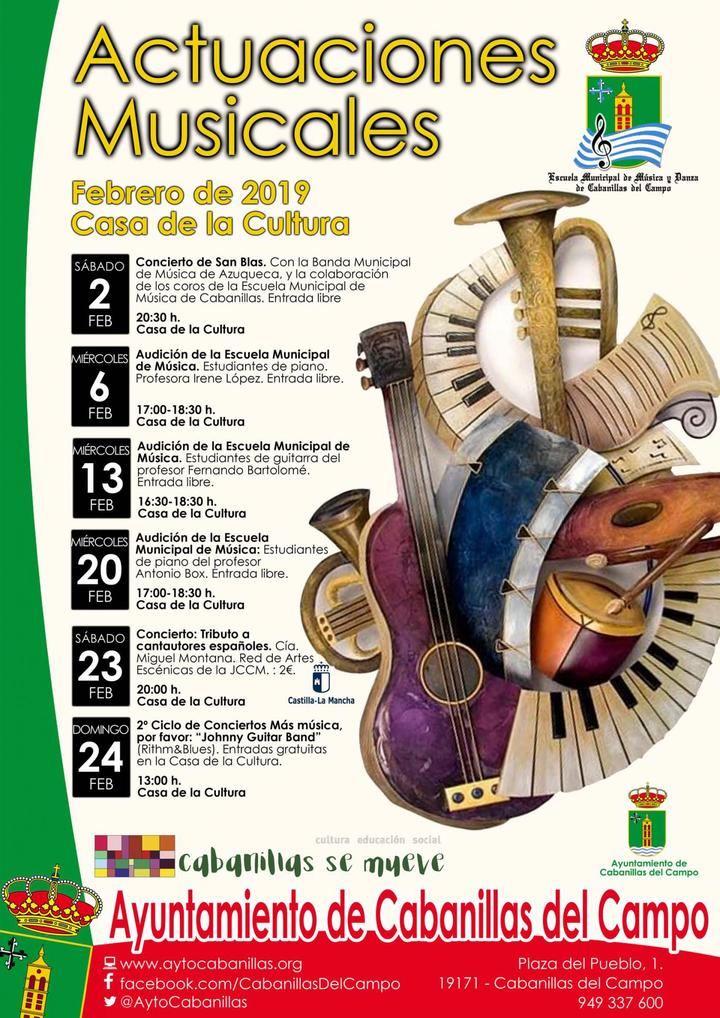 Audiciones de la Escuela Municipal de Música de Cabanillas en el mes de febrero