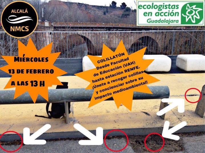El movimiento No Mas Colillas en el Suelo (NMCS) junto a Ecologistas en Acción celebran el Colillatón en Guadalajara