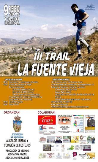 Este sábado, III Trail de Iriépal 'La Fuente Vieja'