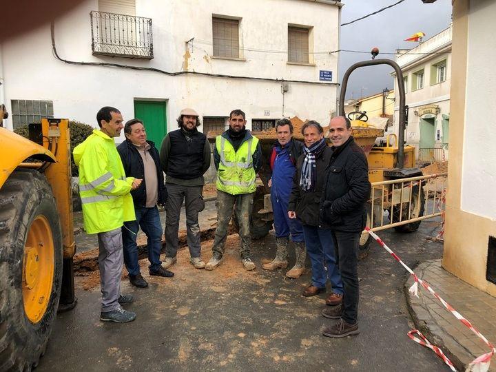 La Diputación realiza obras de pavimentación y renovación de redes en Espinosa, Miralrío, Cañizar y Ciruelas