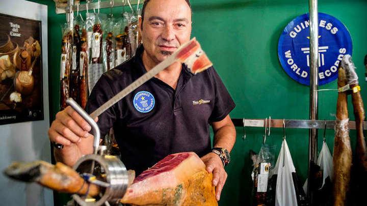 Muere Nico Jiménez, uno de los mejores cortadores de jamón del mundo