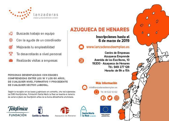 Hasta el 6 de marzo, continúa abierta la inscripción en la III Lanzadera de Empleo de Azuqueca