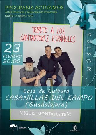Tributo a los mejores cantautores, con el Trío Montana, este sábado en Cabanillas