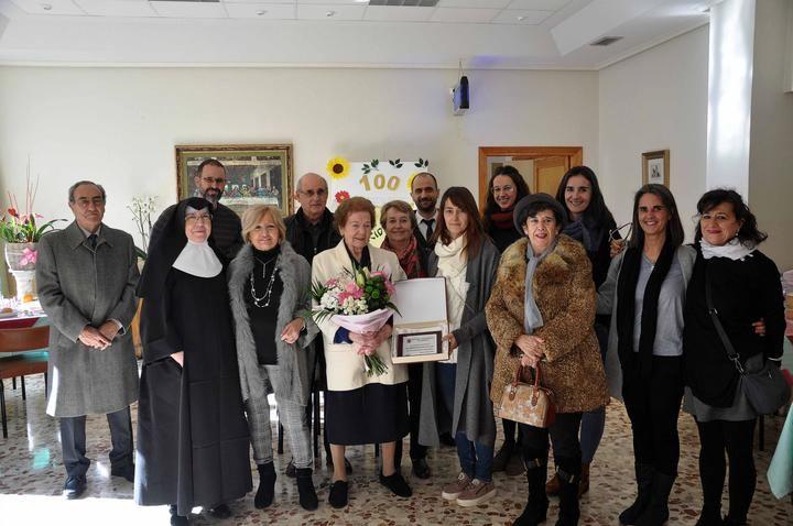 Teófila de Francisco, homenajeada por su centenario en Sigüenza