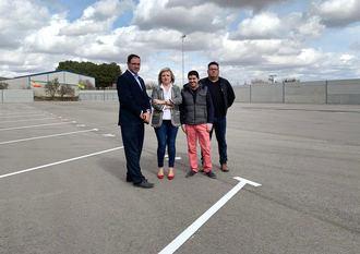 El respaldo de la Diputación de Cuenca permite al municipio de Honrubia contar con un parking municipal de camiones