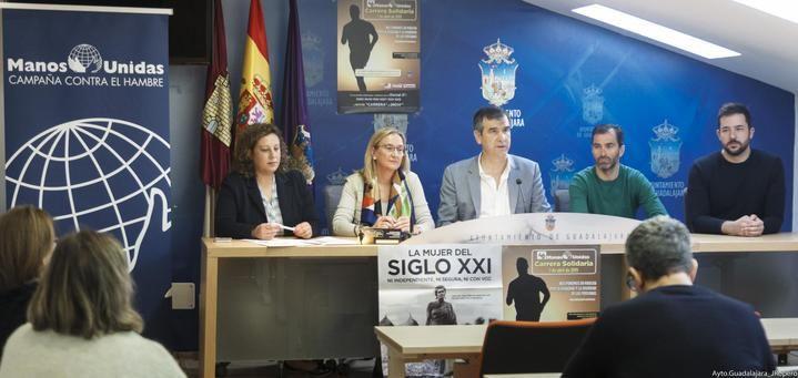 El 7 de abril, Carrera Solidaria de Manos Unidas, con la colaboración del Ayuntamiento de Guadalajara