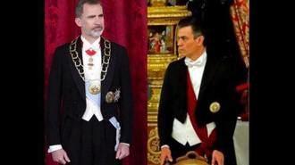 Cachondeo y mofa en las redes sociales por el frac de Pedro Sánchez en una Cena de Gala de los Reyes