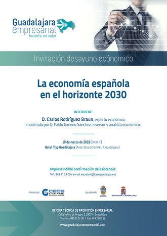 Carlos Rodríguez Braun inicia un ciclo de desayunos económicos de 'Guadalajara empresarial'