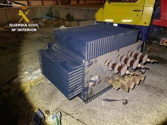 La Guardia Civil detiene a siete personas por robar un transformador eléctrico de grandes dimensiones en Azuqueca de Henares