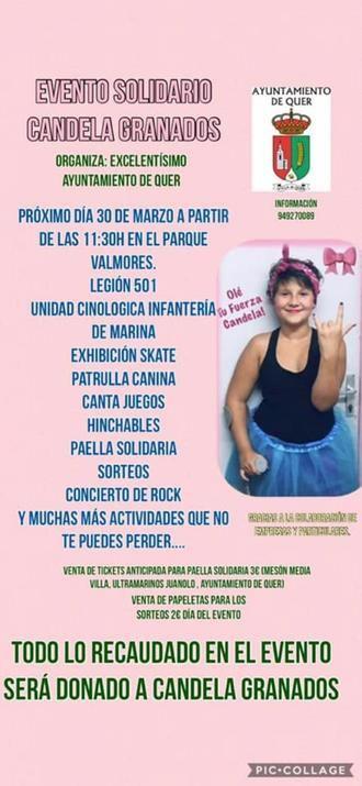 El sábado 30 de marzo, gran evento solidario en favor de Candela Granados en Quer