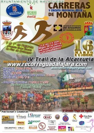 El sábado 16 se celebra en Malacuera el IV Trail de la Alcarruela, primera prueba del Circuito de Carreras de Montaña 2019 de la Diputación de Guadalajara