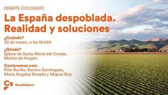 """Molina de Aragón acogerá una mesa de debate de CIudadanos para hablar de """"La España despoblada: realidad y soluciones"""""""