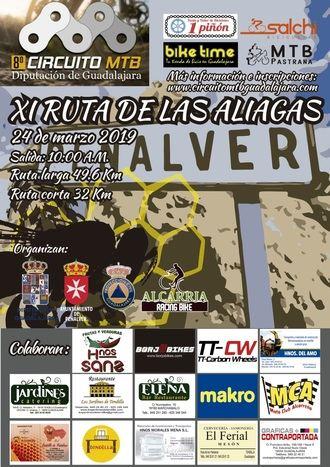 El domingo 24, XI Ruta de las Aliagas en Peñalver, primera prueba del Circuito MTB Diputación de Guadalajara