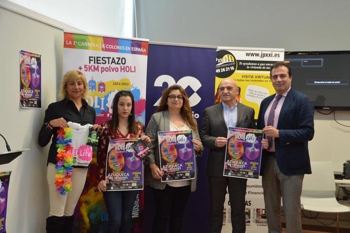 La carrera de colores 'Holi Life' llega a Azuqueca en su versión de día y noche