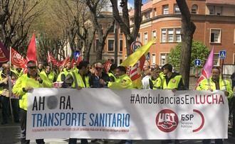 Los trabajadores de Ambulancias de la Junta continúan con sus movilizaciones