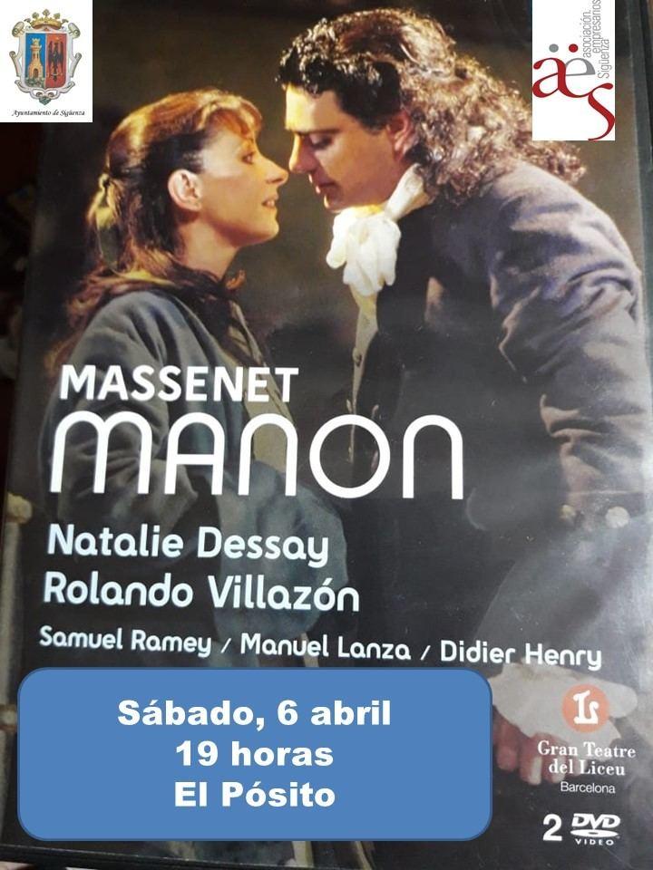 Este sábado, proyección de 'Manon' en 'Vive la Opera en Sigüenza'