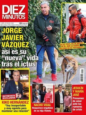 DIEZ MINUTOS Jorge Javier vuelve a incluir a su ex novio, Paco, en su testamento