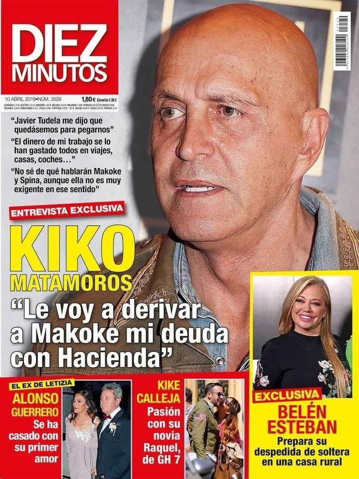 DIEZ MINUTOS Kiko Matamoros implica a Makoke en su deuda con Hacienda