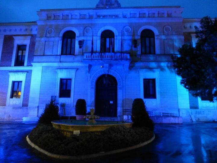 La fachada de la Diputación se iluminará de azul para conmemorar el Día Mundial del Autismo