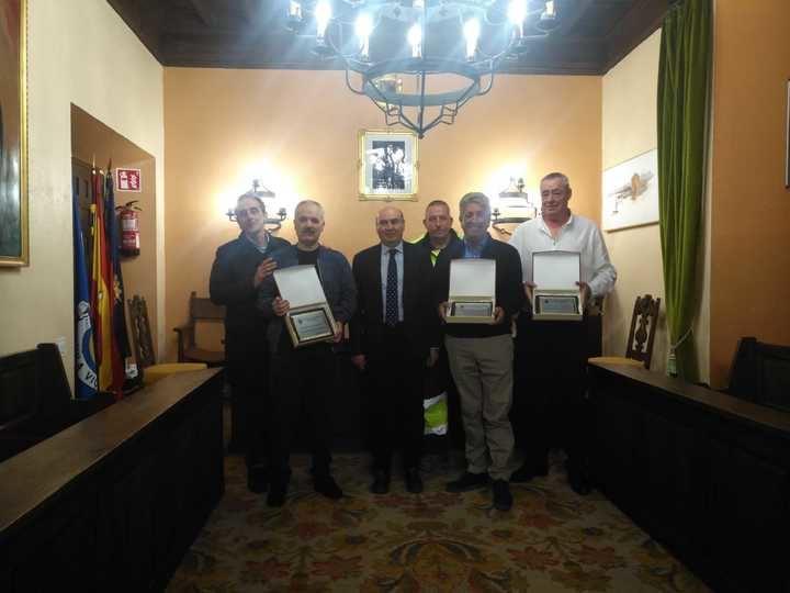 Homenaje del Ayuntamiento de Sigüenza a tres trabajadores municipales con motivo de su jubilación