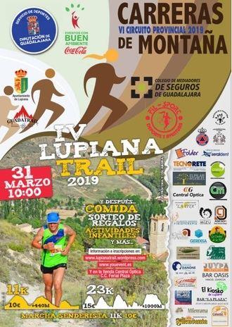 El domingo 31, IV Lupiana Trail, segunda prueba del Circuito de Carreras de Montaña 2019 de la Diputación